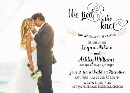 reception invitations wedding reception invitation we the knot elopement