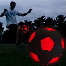 amazon com light up led soccer ball uses 2 hi led lights