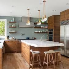 houzz blue kitchen cabinets 75 beautiful kitchen with flat panel cabinets and blue
