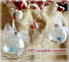 diy snow globe ornaments 100 days of inspiration