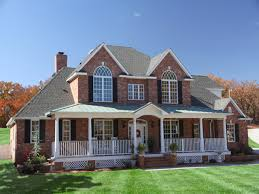homes with porches cool houses with front porches two brick house plans porch on