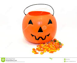 halloween pumpkin candy bucket for trick or treating stock photo