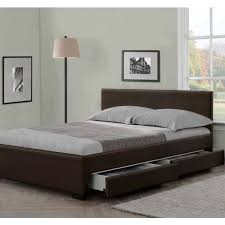 modern italian designer 4 drawer leather bed luxury leather beds