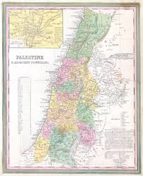 Map Of Israel And Palestine File 1836 Tanner Map Of Palestine Israel Holy Land