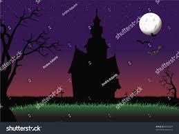 Halloween Haunted Houses Nyc by Cartoon Vector Illustration Halloween Haunted House Stock Vector