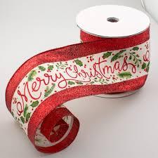 merry christmas ribbon 4 metallic merry christmas ribbon white gold green 10