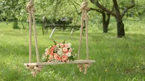 flowers in garden images wedding swing in garden wedding swing decorated with flowers in