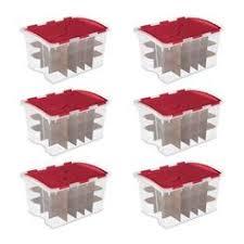 snapware ornament storage box