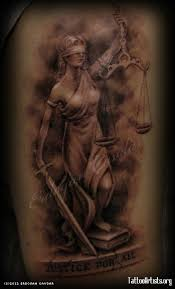 blind lady justice tattoo design photos pictures and sketches