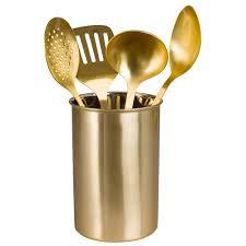 pot ustensile cuisine mat pot à ustensiles en acier doré home