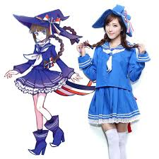 Halloween Costumes Sailor Woman Wadanohara Blue Sea Wadanohara Cosplay Costume Witch