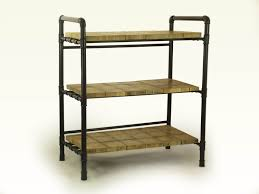 loft style furniture gas pipes industrial bookshelf wooden slabs