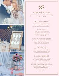create wedding programs online customize 257 wedding menu templates online canva