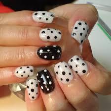 day 264 black and white polka dot nail art nails magazine