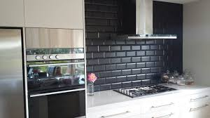 Backsplash Subway Tiles For Kitchen Modern Black Kitchen Backsplash Tile With Stove 9423