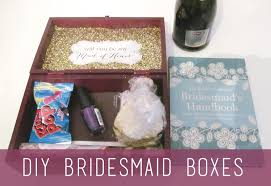 bridesmaids boxes of the cardigans diy bridesmaid boxes tutorial
