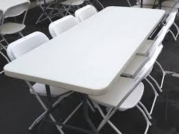 White Folding Table And Chairs Party Chairs U0026 Tables For Rent In Beverly Hills Ca Big Blue Sky