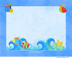 splash fish birthday thank you card beach blue water