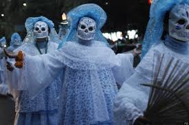day of the dead costumes spirit halloween holy death santa muerte day of the dead and la catrina huffpost