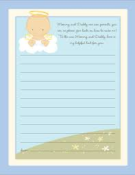 baby shower notes angel in the cloud boy baby shower notes of advice