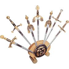 miniature letter openers miniature swords medieval letter