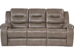 furnitures grey reclining sofa awesome veneto smoke leather