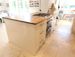 used kitchen island cream gloss magnet used kitchen oak worktops island larder kent