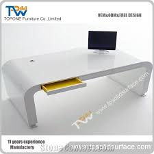 Contemporary Design White Modern Artificial Marble Stone Executive