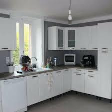 cuisine blanche carrelage gris couleur mur cuisine blanche cuisine blanc mur gris inspirant
