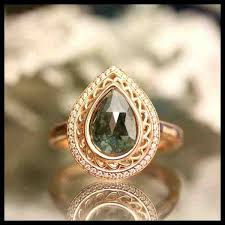 etsy diamond rings images Non diamond engagement rings etsy 2018 elegant weddings jpg
