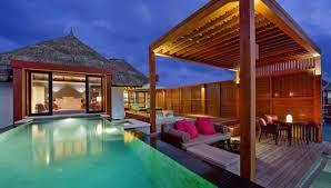 sunrise water bungalow with pool at four seasons kuda huraa