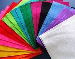 best quality sheets bulk 96 a4 assorted best quality acrylic felt sheets craft