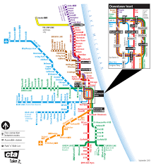 Cta Blue Line Map Chicago Elevated Maps