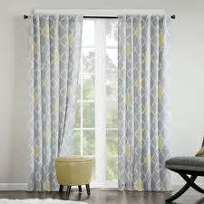 Yellow And Gray Window Curtains Yellow And Gray Curtains Walmart Lalila Net