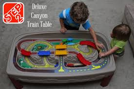 train and track table all four love getting the most bang for your space with step2