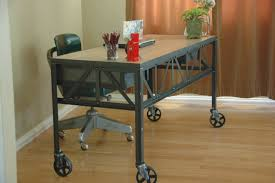 Office Desk With Wheels Industrial Furniture Wheels Office Furniture On Wheels Office