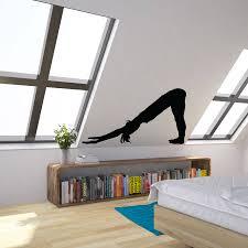 yoga pose downwards facing dog vinyl wall art decal by vinyl