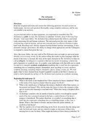 the alchemist discussion questions philosophical science science