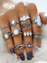 ring set turtle and crown design ring set shein sheinside