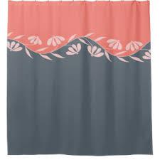 Peach Floral Curtains Peach Floral Shower Curtains Zazzle