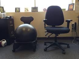 Office Desk Chair Reviews Office Chair Battle Gaiam Balanceball Chair Vs Regular Desk