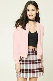 light pink blazer forever 21 lyst forever 21 faux fur bomber jacket in pink
