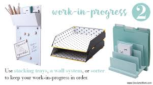 Organize Desk At Work How To Organize A Desk Without Drawers See Work