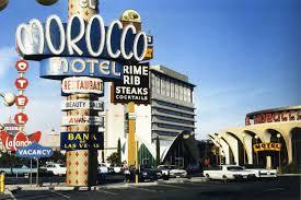 el morocco motel las vegas strip october 1968 laconcha