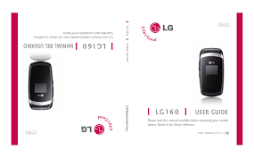 download free pdf for lg lg160 cell phone manual