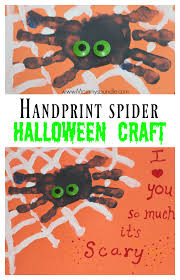 Halloween Craft Printable by Easy Handprint Spider Craft For Halloween Fun Halloween Crafts