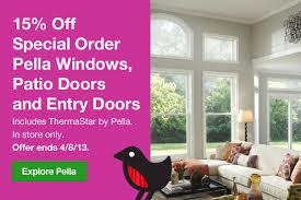 Thermastar By Pella Patio Doors Lowes 15 Off Special Order Pella Windows And Doors Milled
