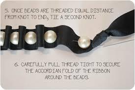 necklace pearls ribbon images Pearl ribbon necklace blog a la cart jpg