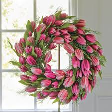 tulip wreath pink tulip wreath gump s