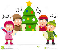 clipart christmas trees singing christmas carols clipground